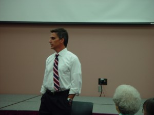Tom Shields At Town Hall Meeting
